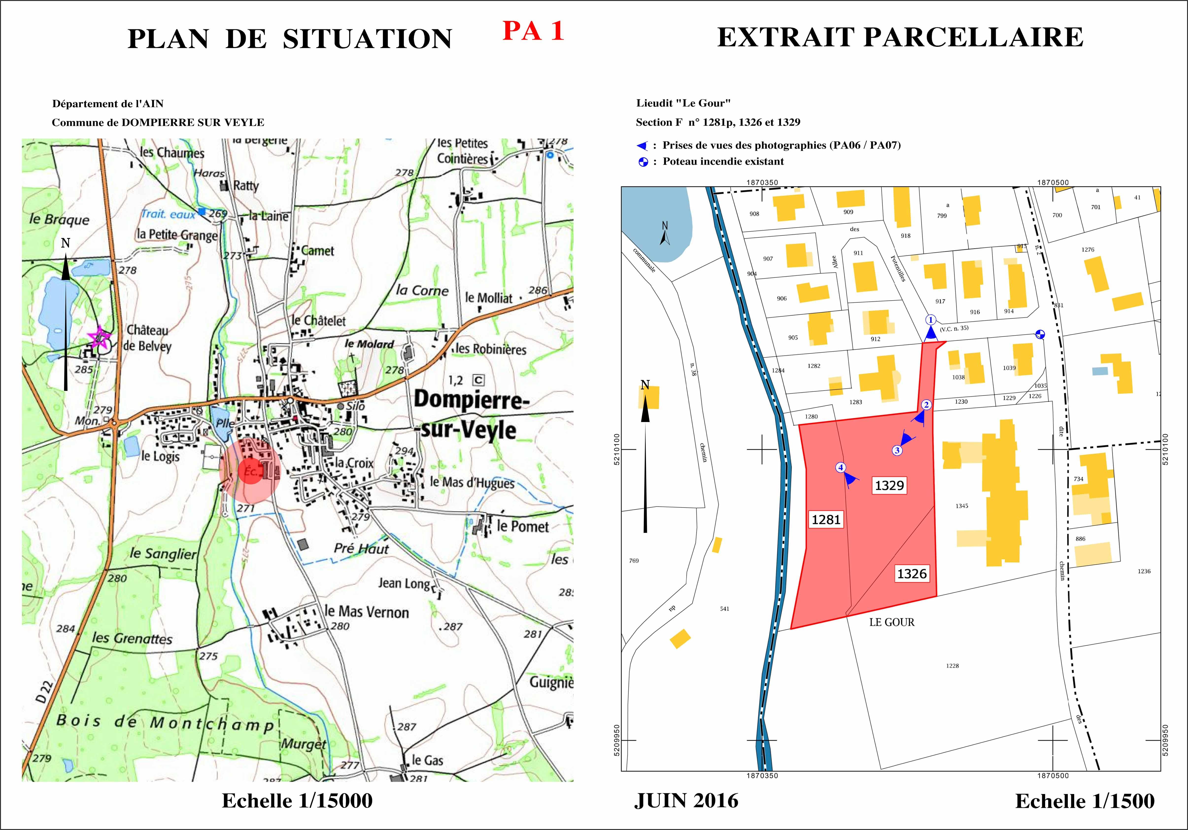 Les rives de la veyle plan de situation la construction lyonnaise - Plan de masse et plan de situation ...