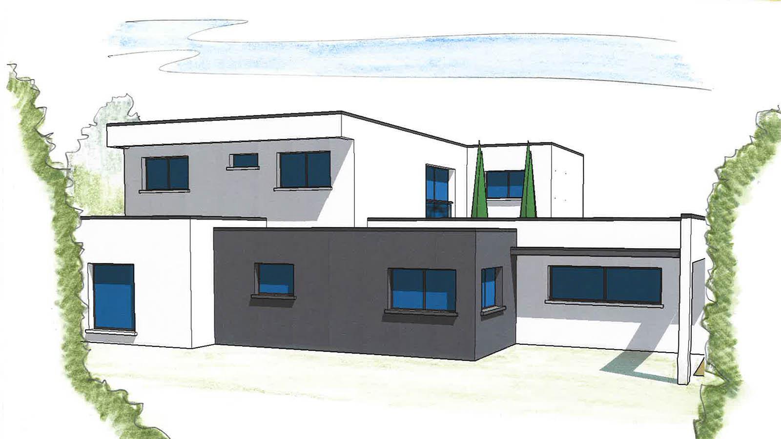 Construction de maison neuve sur mesure rh ne la for Projet maison construction