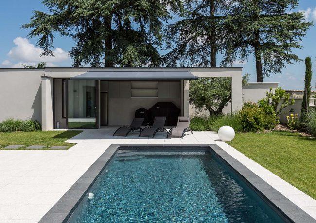 piscine avec poolhouse lyon