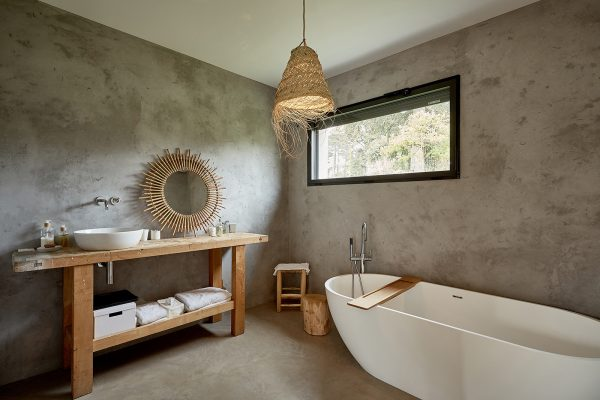 salle de bain beton brut