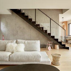 escalier métallique raffiné
